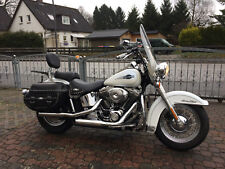 Harley Heritage Softail Classic neuwertiger Zustand TüV neu White Lady