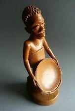 Vintage African Wood Treen Carving of a Woman & Child Tanganyika Wavira Tribe