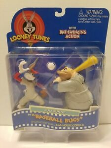 N Looney Tunes Baseball Bugs & Gas-House Gorilla Figures 1997 Playmates