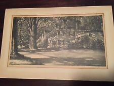 Original Stow Wengenroth Shadow of the Elm 1946, signed Lithograph, Wiscasset, M