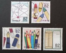 JAPAN USED 2016 LETTER WRITING DAY 82 YEN 5 VAL VF COMPLETE SET SC # 4014 - 4018