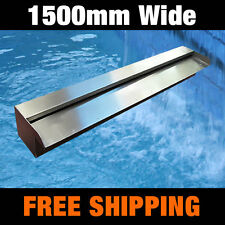 SWIIMING POOL WATER FEATURE - 1500MM WIDE SPILLWAY WATER BLADE