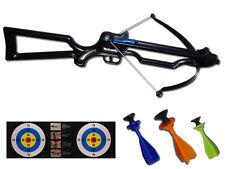 Kinderarmbrust mit 3 Pfeilen und Zielscheibe Armbrust für Kinder