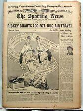Mar 31, 1954 SPORTING NEWS- Don Newcombe/Al Kaline