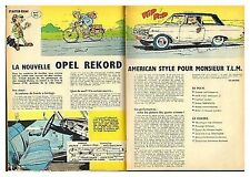 1963 DOCUMENT (ref IPS 1314) AUTO : OPEL REKORD      (2p)