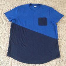 Men's Hollister California T-shirt size XL black blue short sleeves