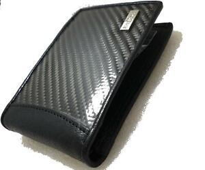 StreetFactor Garage Genuine Carbon Fibre Leather Wallet Men JDM Car Turbo 4x4