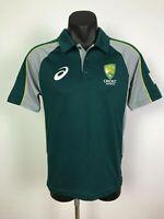 Asics Cricket Australia Mens Supporter Polo Shirt T-Shirt Tee Size XS