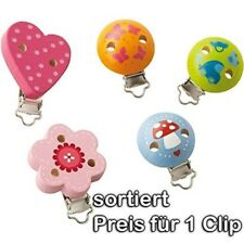 HABA Wooden Ariella Clip - Pacifier Clip / Toy Clip - Assorted Styles