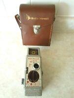 Vintage 1952 Bell & Howell 8mm Cine Movie Camera Model Two Twenty w/Leather Case