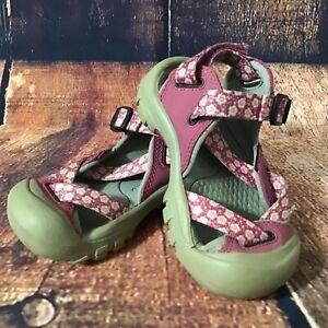 Keen Zerraport II Toddler Girl Size 7? Purple Floral Open Top Sandals