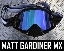 ICE BLUE MIRROR LENS to fit OAKLEY MAYHEM MOTOCROSS MX GOGGLES tear off