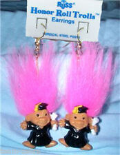 Russ Retired-HONOR ROLL TROLL EARRINGS-Teacher Graduation Novelty Jewelry-PINK