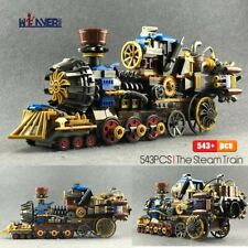 543pcs Creator the Age of Steam Trains Building Blocks City DIY Bricks Kids Gift