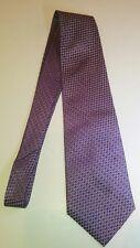 Geoffrey Beene Hand Made 100% Silk Tie Purple necktie