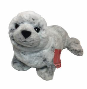 "FAO Schwarz Harbour Seal Plush RARE Realistic Gray Stuffed Animal HTF 16"" TAG"