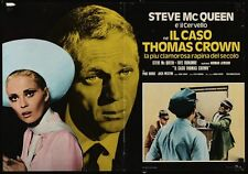 THOMAS CROWN AFFAIR Italian fotobusta photobusta movie poster 3 STEVE McQUEEN 73