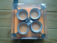 FOUR....mini WATERING CAN...CANDLES..(orange)..NEW/BOXED..EXCELLENT CONDITION...