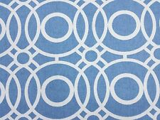 Clarke and Clarke Eclipse Delft Blue Designer Curtain Upholstery Craft Fabric