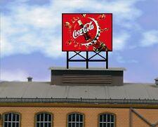 Animated Billboard Sign Coca-Cola 3  for rooftop building sides roadsid HO N OO