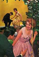 Riproduzione Cartolina Donne e Moda 1963 Adolescenti scatenati in un Twist