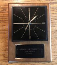Oldsmobile Salesman Award Clock 1979 Action Time 100% Achiever