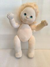 vintage 1985 mattel My Child baby doll girl blonde hair and green eyes soft body