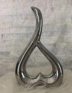 Modern Style Silver Ceramic Vase - Home Decoration Art Centerpiece