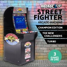 Street Fighter Retro Arcade Machine Arcade1Up Game Cabinet 3 games in 1 17' LCD