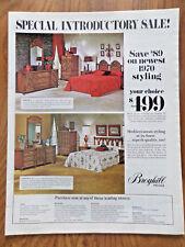 1970 Broyhill Premier Furniture Sale Ad  Bedroom Serena & Medici