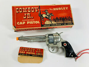 Vintage Hubley Cowboy Jr. Cowboy Cap Gun Pistol w/ Box NICE