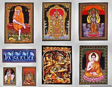 50PC WHOLESALE LOT ETHNIC INDIAN LORD TAPESTRY LARGE WALL HANGING YOGA MAT-UK
