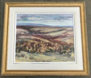 Canadian Oil Painting Dorothy Campbell Titled Wild Praire Alberta