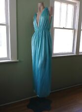 VTG 1970s Blue Goddess Nightgown 70s Vassarette Nightie Sz M L