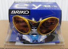 Rare BNIB Vintage BRIKO JUMPER Made in Italy GOLD Cycling Sunglasses cipollini