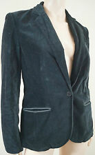 ZADIG & VOLTAIRE Midnight Navy 100% Cotton Velvet Evening Blazer Jacket Sz:L