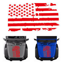Red Usa Flag design vinyl Hood Car Truck Window Sticker For Jeep Wrangler (Fits: Whippet)