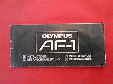 Bedienungsanleitung Olympus AF-1 Gebrauchsanleitung ca.7x15cm.