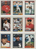 1992 Topps Baseball Team Sets with Traded **Pick Your Team**