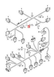 Genuine AUDI A7 Sportback audi 4GF wiring set for bumper 4G8971095AK