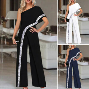 Women Summer Jumpsuits Off Shoulder Sexy Playsuits Party Cocktail Elegant Romper