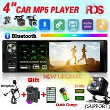 4.1'' Single 1DIN Car Stereo MP5 MP3 Player Bluetooth FM RDS Radio USB AUX + MIC