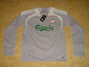 Liverpool Soccer Sweat Top England Football Sweatshirt Grey NEW