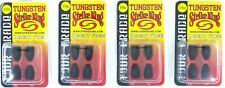 (4) Packs Strike King Tungsten Bullet Weights Tour Grade Insert Free 3/16 Oz New