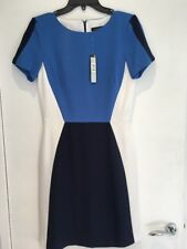 TAHARI Dress Blue/Navy/White Size UK8 US4 Brand New With Tags RRP£150