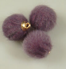 2pcs lot Plush Fur Hair Ball Beads Charms DIY Necklace Pendant For Women Girl 6f