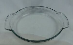 Anchor Ovenware Clear Glass 1 Qt Fluted Deep Pie Plate 9 Inch Diameter