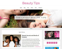 Stunning * BEAUTY TIPS * blog niche website business for sale AUTO UPDATING!