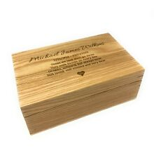 Personalised Human Adult Memorial Ashes Urn Cremation Oak Wood Casket
