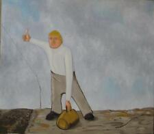 LONELINESS, OIL ON CANVAS PAINTING - without FRAME - 30 X 34 INCHES